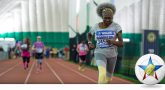 Veteran running a race at the National Veterans Golden Age Games